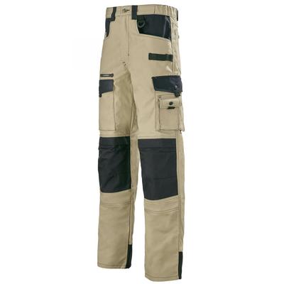 Pantalon de travail beige et noir Work Attitude A. Lafont / 1ATHCP204