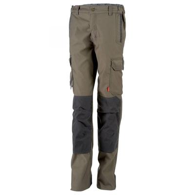 Pantalon de travail femme stretch et multipoches marron / 1STFCP873