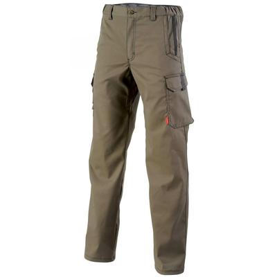 Pantalon de travail sans poches genoux marron A. Lafont / 1STSCP5