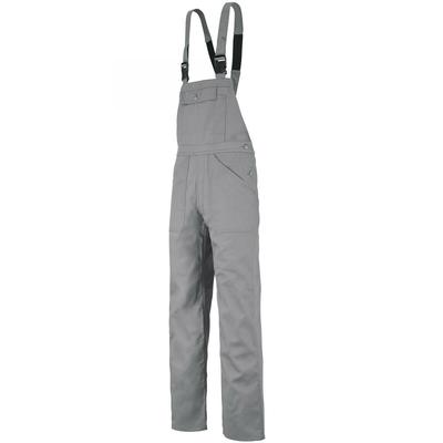 Cotte de travail à bretelles gris acier / 6BASCP6