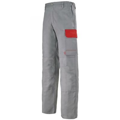 Pantalon de travail gris acier et rouge empire muffler / 1COLCP882