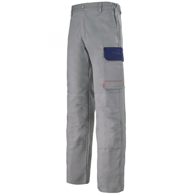 Pantalon de travail gris acier et bleu marine muffler / 1COLCP875