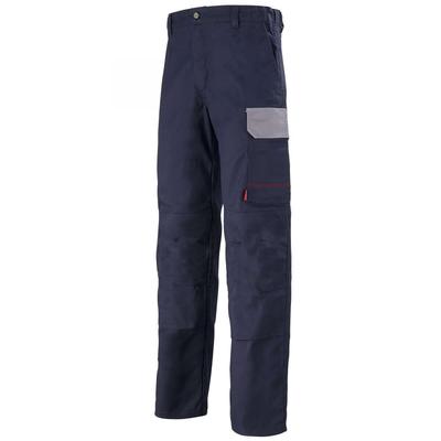 Pantalon de travail bleu marine et gris acier muffler / 1COLCP805
