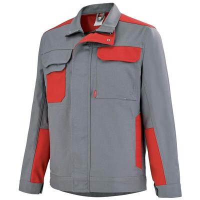 Blouson de travail gris acier / rouge empire grenat / 3COLCP882