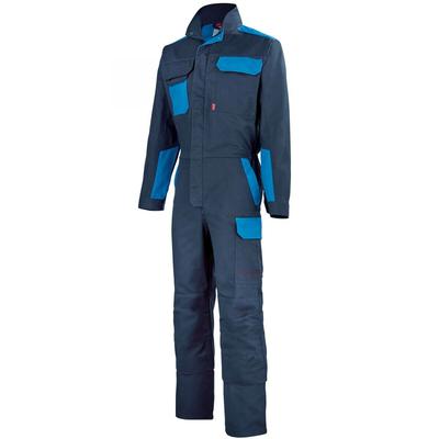 Combinaison de travail bleu marine et bleu azur / 5COLCP808