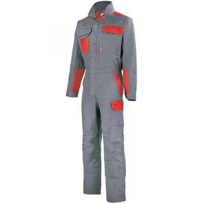 Combinaison de travail gris acier et rouge empire / 5COLCP882