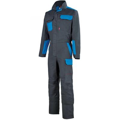 Combinaison de travail gris charbon / bleu azur / 5COLCP570