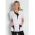 blouse estheticienne bicolor blanc et noir