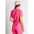 blouse médicale rose cintrée