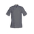 trouver veste cuisinier confortable gris à manches courtes