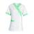 tunique infirmière manches courtes blanc et vert