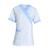 acheter tunique infirmière manches courtes blanc et bleu pas cher