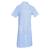 jolie blouse médicale bleu ciel à manches courtes pour femme pas cher