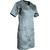 blouse de travail grise à manches courtes pour femme découpe féminine