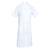acheter blouse médicale 100% coton blanc à manches courtes