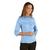 chemise bleue ciel manches 3/4 femme