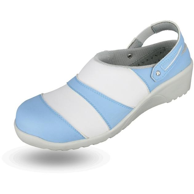 sabot de cuisine femme adeline bleu nordways chaussures cuisine. Black Bedroom Furniture Sets. Home Design Ideas