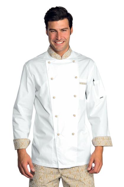 Veste chef cuisinier extralight blanc biscuit vestes de for Cuisinier extra