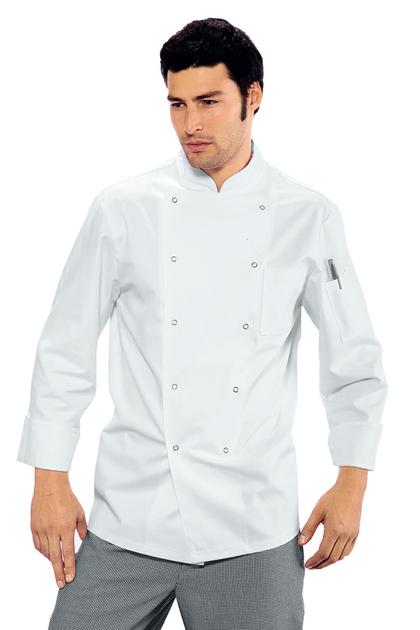 Veste de cuisine blanche 100 coton for Veste de cuisine pas cher