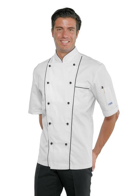 Veste de cuisine homme basics v tement professionnel de - Veste cuisine homme personnalise ...
