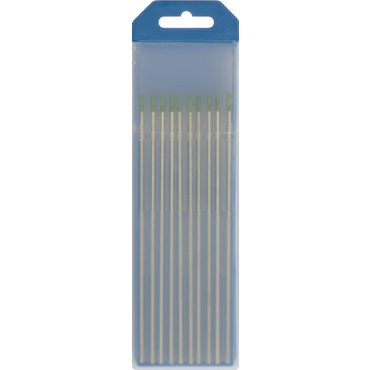 10 ELECTRODES TUNGSTENE PUR WP Ø2,4 - GREEN (AC -