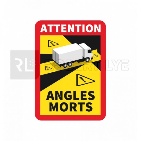 ADHESIF SIGNALISATION ANGLES MORTS POUR POIDS