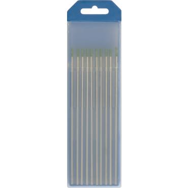 10 ELECTRODES TUNGSTENE PUR WP Ø2,4 - GREEN (AC -