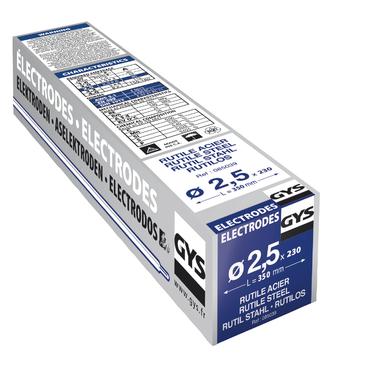 230 ELECTRODES RUTILES ACIER Ø2,5 - ETUI