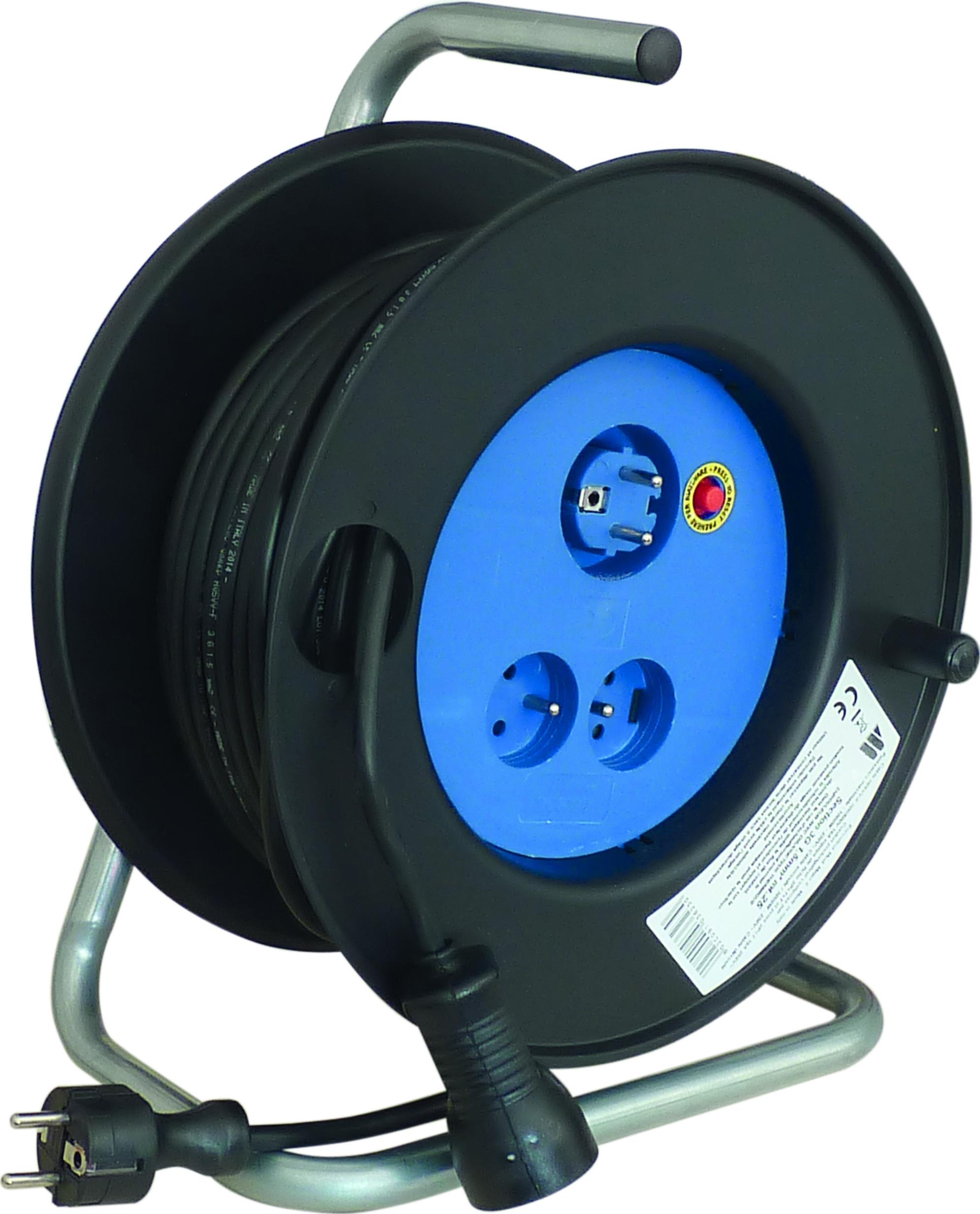 ENROULEUR ELECTRIQUE 2 FONCTIONS HO5VV-F 25M 3G1.5