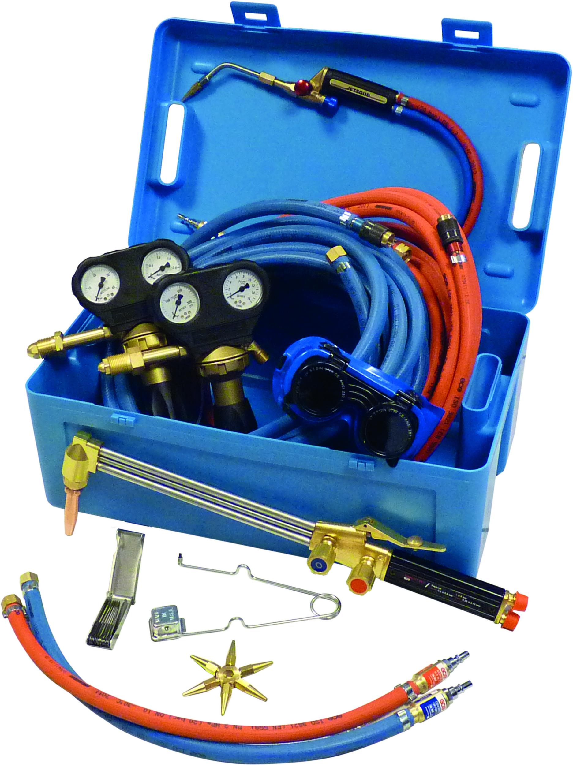 CHALUMEAU OXY-GAZ KIT COMPLET AVEC TUYAUX 2X10M/DE