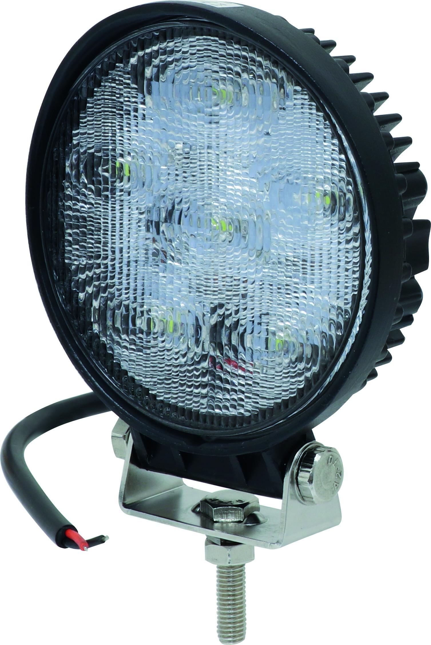 PHARE DE TRAVAIL ROND LED 10/32V 18W 1200LUMENS FA