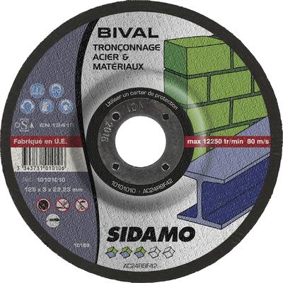 DISQUE A TRONCONNER BIVAL D.125 X 3 X 22,23