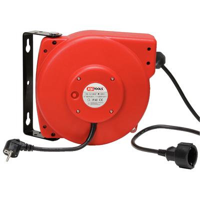 Enrouleur de câble électrique mural 3x2,5mm²x20m REF KS TOOLS 150.4221