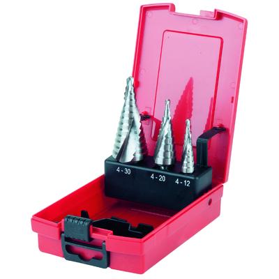 Coffret de forets étagés HSS pour tôles jusqu'à 5mm, 3pcs REF KS TOOLS 330.2210
