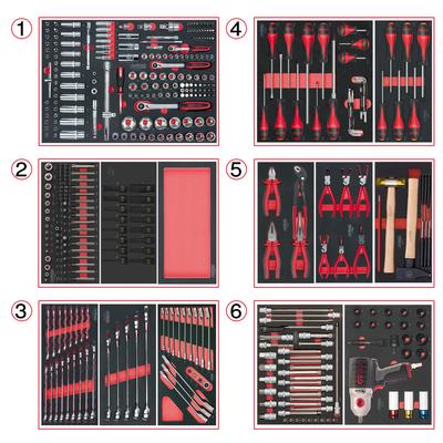 Composition d'outils 6 tiroirs pour servante, 429 pièces REF KS TOOLS 714.0425