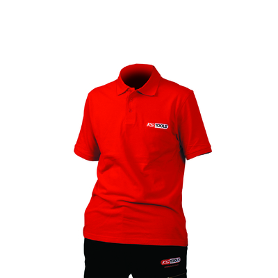 Polo KS Tools rouge - manches courtes - Taille L REF KS TOOLS 100303
