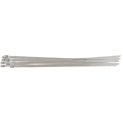 Colliers serre-câble en acier avec fermeture à bille - 4,6 x 200 mm, 100 pièces REF KS TOOLS 115.1591