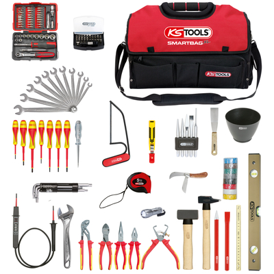 Composition d'outils électricien en sac SMARTBAG - 138 pièces REF KS TOOLS 117.0138