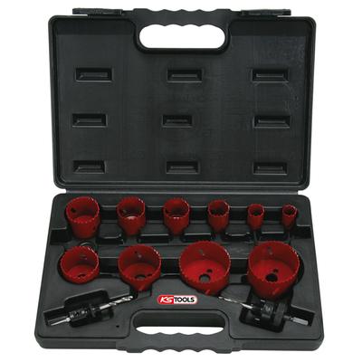 Coffret de 10 scies cloche KS, 19-22-29-35-38-44-51-57-65-67 mm REF KS TOOLS 129.5545