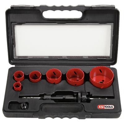 Coffret de 6 scies cloche electricien, 22-29-35-44-51-68 mm REF KS TOOLS 129.5550