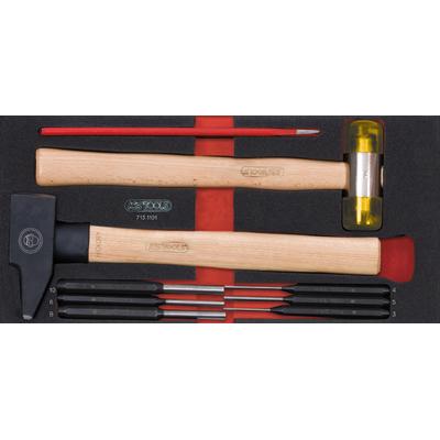 Module d'outils de frappe manche bois, 9 pièces REF KS TOOLS 713.1101
