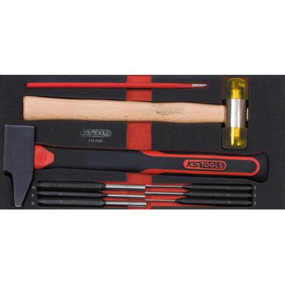Module d'outils de frappe manche fibre, 9 pièces REF KS TOOLS 713.1102