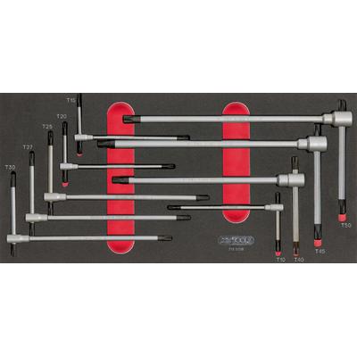 Module de clés mâles TORX à poignée en T, 9 pièces REF KS TOOLS 713.5018