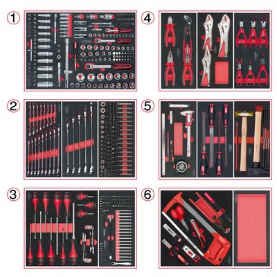 Composition d'outils 6 tiroirs pour servante, 455 pièces REF KS TOOLS 714.0452