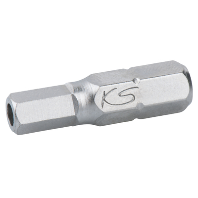 """Boîte de 5 embouts de vissage 6 pans percé, L.25 mm - 1/4"""" - 1/8"""" REF KS TOOLS 911.2953"""