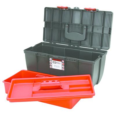 Boîte à outils de technicien en plastique, L500 X P268 X H230 avec plateau de rangement REF KS TOOLS 999.0110