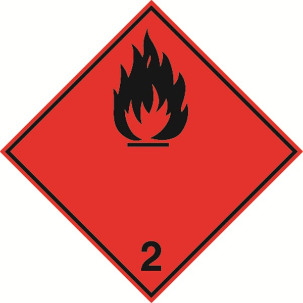 PICTOGRAMME TRANSPORT GAZ INFLAMMABLE ADR 2.1a