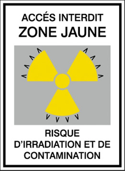 PICTOGRAMME IRRADIATION ET CONTAMINATION STF 172