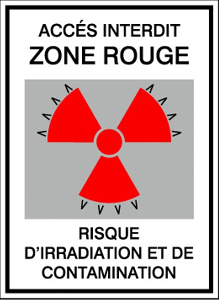 PICTOGRAMME IRRADIATION ET CONTAMINATION STF 178