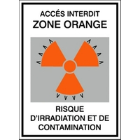 PICTOGRAMME IRRADIATION ET CONTAMINATION STF 175